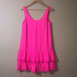 Lilly Pulitzer pompon pink dress size XS
